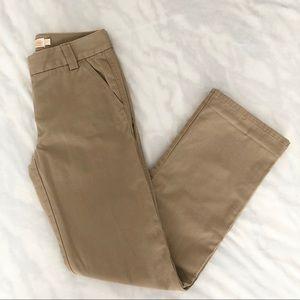 J. CREW Women's Favorite Fit Chino Pants Khaki 2